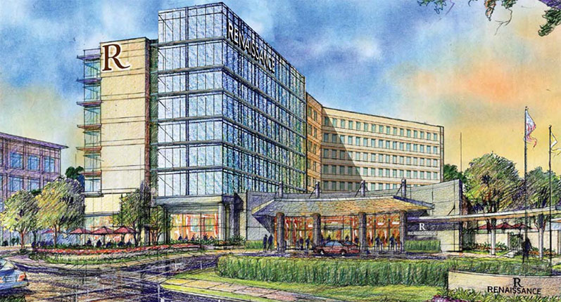Gateway Center - Renaissance Hotel rendering