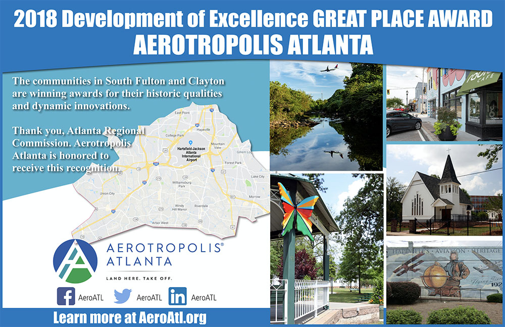 "Aerotropolis Area Receives ""Great Place"" Award"